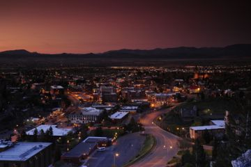 Helena MT nightlife cityscape