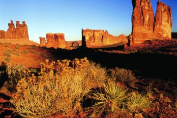 Arches National Park Courthouse Towers 300